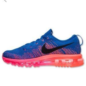 Nike Flyknit air max royal blue